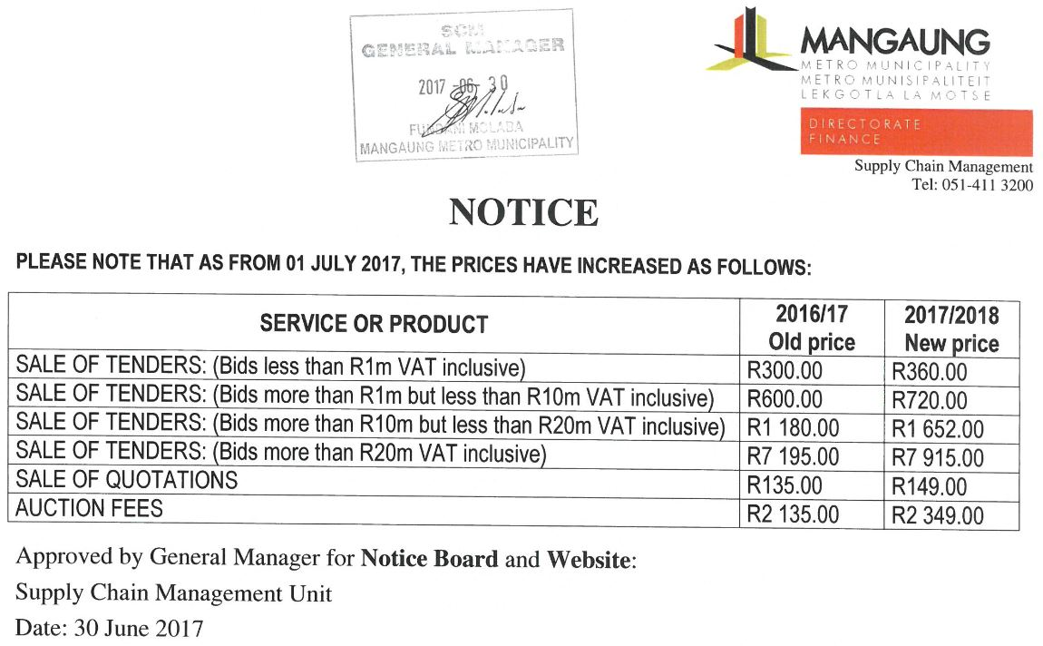 NOTICE-SCM-TARIFFS-2017-2018